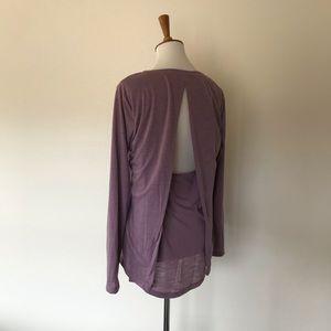 Under Armour Purple Shirt Open Back